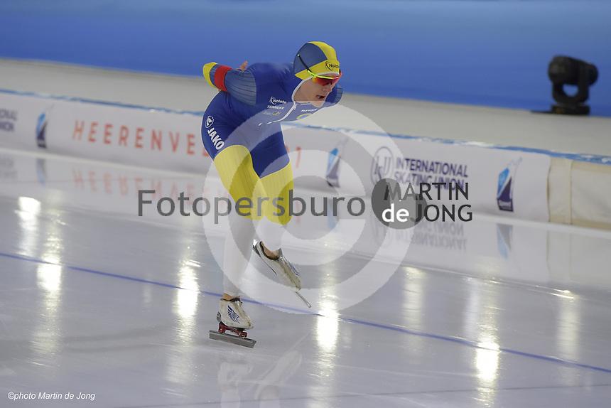 SPEEDSKATING: HEERENVEEN: 14-02-2021, IJsstadion Thialf, ISU World Speed Skating Championships 2021, Nils van der Poel, World Record 10k 12:32.95, ©photo Martin de Jong