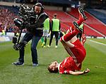 Ryan Christie celebrates his free-kick goal for Aberdeen