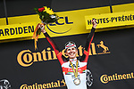 Race leader Tadej Pogacar (SLO) UAE Team Emirates wins  Stage 18 of the 2021 Tour de France, running 129.7km from Pau to Luz Ardiden, France. 15th July 2021.  <br /> Picture: A.S.O./Charly Lopez   Cyclefile<br /> <br /> All photos usage must carry mandatory copyright credit (© Cyclefile   A.S.O./Charly Lopez)