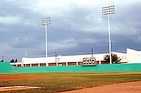 Ballparks: Alpine, TX. Kokernot Field. Panorama of center and right field.