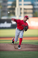AZL Angels starting pitcher Jose M Rodriguez (36) delivers a pitch during an Arizona League game against the AZL Padres 2 at Tempe Diablo Stadium on July 18, 2018 in Tempe, Arizona. The AZL Padres 2 defeated the AZL Angels 8-1. (Zachary Lucy/Four Seam Images)