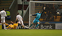 Motherwell's Michael Higdon scores Motherwell's fourth goal.