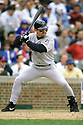 CHICAGO - CIRCA 1996:  Jeff Bagwell #5 of the Houston Astros bats during an MLB game at Wrigley Field in Chicago, Illinois. Bagwell played for 15 seasons, all with the Houston Astros, was a 4-time All-Star and was inducted to the Baseball Hall of Fame in 2017.(David Durochik / SportPics) --Jeff Bagwell