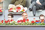 Manu Carreño and his son during Mutua Madrid Open Tennis 2016 in Madrid, May 07, 2016. (ALTERPHOTOS/BorjaB.Hojas)