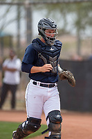 Seattle Mariners catcher James Lovett (32) during a Minor League Spring Training game against the San Diego Padres at Peoria Sports Complex on March 24, 2018 in Peoria, Arizona. (Zachary Lucy/Four Seam Images)