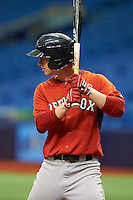 Boston Red Sox Danny Mars (40) during an instructional league game against the Tampa Bay Rays on September 24, 2015 at Tropicana Field in St Petersburg, Florida.  (Mike Janes/Four Seam Images)