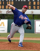 March 26, 2004:  Rocky Biddle of the Montreal Expos (Washington Nationals) organization during Spring Training at Osceola County Stadium in Kissimmee, FL.  Photo copyright Mike Janes/Four Seam Images