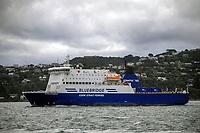 Bluebridge ferry. CentrePort operations in Wellington, New Zealand on Friday, 23 April 2021. Photo: Dave Lintott / lintottphoto.co.nz