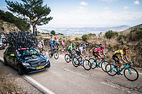 the GC favourites up the Puerto de la Morcuera<br /> <br /> Stage 18: Colmenar Viejo to Becerril de la Sierra (178km)<br /> La Vuelta 2019<br /> <br /> ©kramon