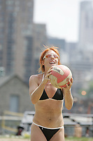 Montreal (qc) CANADA - 2005 file Photo- Beach volleyball : stephanie Migneault