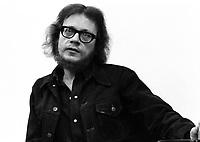 ARCHIVE -<br /> Jacques Theriault, journaliste au Devoir, <br /> en 1973 (date exacte inconue)<br /> <br /> Photo : Agence Quebec Presse  - Alain Renaud