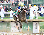 LOUISVILLE, KY - MAY 06: Always Dreaming #5, ridden by John Velazquez, wins the Kentucky Derby on Kentucky Derby Day at Churchill Downs on May 6, 2017 in Louisville, Kentucky. (Photo by Jessica Morgan/Eclipse Sportswire/Getty Images)