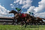 August 8, 2020: Scenes from an undercard race on Travers Day at Saratoga Racecourse in Saratoga Springs, N.Y. Rob Simmons/Eclipse Sportswire/CSM
