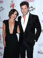 BEVERLY HILLS, CA, USA - SEPTEMBER 13: Karina Smirnoff and Maksim Chmerkovskiy arrive at the Brent Shapiro Foundation For Alcohol And Drug Awareness' Annual 'Summer Spectacular Under The Stars' 2014 held at a Private Residence on September 13, 2014 in Beverly Hills, California, United States. (Photo by Xavier Collin/Celebrity Monitor)
