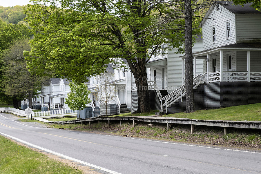 Cass, West Virginia, an Old Paper Mill Town.  Housing for Workers.