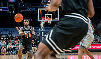WASHINGTON, DC - FEBRUARY 19: Maliek White #4 of Providence makes a pass during a game between Providence and Georgetown at Capital One Arena on February 19, 2020 in Washington, DC.