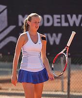 Netherlands, Rotterdam August 07, 2015, Tennis,  National Junior Championships, NJK, TV Victoria, Isabelle Haverlag<br /> Photo: Tennisimages/Henk Koster