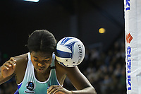 Grace Nweke gets a rebound falcon during the ANZ Premiership netball match between Central Pulse and Northern Mystics at TSB Bank Arena in Wellington, New Zealand on Monday, 10 May 2021. Photo: Dave Lintott / lintottphoto.co.nz