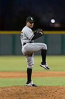 AZL White Sox relief pitcher Aaron Soto (36) delivers a pitch during an Arizona League game against the AZL Cubs 2 at Sloan Park on July 13, 2018 in Mesa, Arizona. The AZL Cubs 2 defeated the AZL White Sox by a score of 6-4. (Zachary Lucy/Four Seam Images)