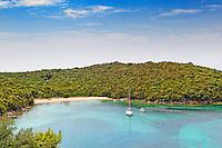 The famous beach Bella Vraka in Syvota, Greece