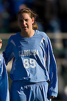 North Carolina Tar Heels forward Katie Klimczak (89). The North Carolina Tar Heels defeated the Notre Dame Fighting Irish 2-1 during the finals of the NCAA Women's College Cup at Wakemed Soccer Park in Cary, NC, on December 7, 2008. Photo by Howard C. Smith/isiphotos.com
