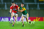 Maurice Shanley, Cork, in action against Brian Ó Beaglaoich, Kerry during the Munster GAA Football Senior Championship Semi-Final match between Cork and Kerry at Páirc Uí Chaoimh in Cork.