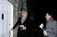 Pierre Fortier<br /> campaiging in Outremont during the  1985 election