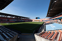 HOUSTON, TX - SEPTEMBER 10: A photo of BBVA Stadium taken before a game between Chicago Red Stars and Houston Dash at BBVA Stadium on September 10, 2021 in Houston, Texas.