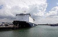 Nederland -  IJmuiden - 2019. De Princess Seaways is een schip van de Deense rederij DFDS Seaways. Het is een schip dat de route Newcastle upon Tyne naar IJmuiden vaart. Passagiers - cargoschip   Foto Berlinda van Dam / Hollandse Hoogte