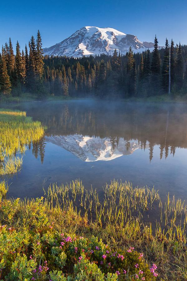 Morning at Mt. Rainier and Reflection lake