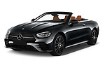 2021 Mercedes Benz E-Class AMG-Line 4 Door Convertible Angular Front automotive stock photos of front three quarter view