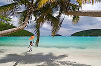 Aldris Santana at the beach<br /> Maho Bay<br /> Virgin Islands National Park<br /> St. John, U.S. Virgin Islands