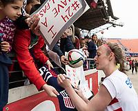 Houston, TX - Sunday April 08, 2018: Fans, Becky Sauerbrunn during an International Friendly soccer match between the USWNT and Mexico at BBVA Compass Stadium.