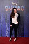 Noelia Franco attends to Dumbo premiere at Principe Pio Theatre in Madrid, Spain. March 27, 2019. (ALTERPHOTOS/A. Perez Meca)
