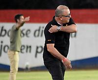 MONTERIA - COLOMBIA, 07-03-2021: Alberto Suarez, tecnico de Jaguares de Cordoba F.C. durante partido entre Jaguares F. C. y Patriotas Boyaca F. C. de la fecha 11 por la Liga BetPlay DIMAYOR I 2021, en el estadio Jaraguay de Monteria de la ciudad de Monteria. / Alberto Suarez, coach of Jaguares de Cordoba F.C. during a match between Jaguares de Cordoba F.C. and Patriotas Boyaca F. C., of the 11th date for the Betplay DIMAYOR I 2021 League at Jaraguay de Monteria Stadium in Monteria city. Photo: VizzorImage / Andres Lopez / Cont.