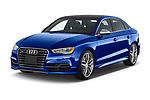 2015 Audi S3 Premium Plus 4 Door Sedan angular front stock photos of front three quarter view