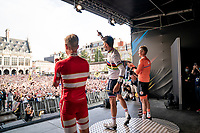 Julian Alaphilippe (FRA/Deceuninck - Quick Step) about to take over the city of Leuven in his 2nd reign as World Champion<br /> <br /> Elite Men World Championships - Road Race<br /> from Antwerp to Leuven (268.3km)<br /> <br /> UCI Road World Championships - Flanders Belgium 2021<br /> <br /> ©kramon