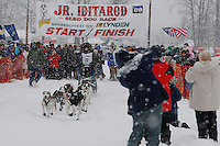 Ava Lindner of Two Rivers leaves the start line of the 2009 Junior Iditarod on Knik Lake on Saturday Februrary 28, 2009.