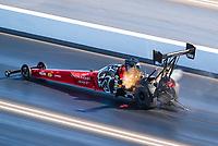 Nov 1, 2020; Las Vegas, Nevada, USA; NHRA top fuel driver Leah Pruett during the NHRA Finals at The Strip at Las Vegas Motor Speedway. Mandatory Credit: Mark J. Rebilas-USA TODAY Sports