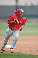 Philadelphia Phillies Emmanuel Marrero (16) runs the bases during a minor league Spring Training game against the Pittsburgh Pirates on March 24, 2017 at Carpenter Complex in Clearwater, Florida.  (Mike Janes/Four Seam Images)