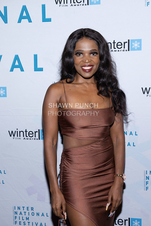 Cebo Tiara attends the 10th Annual Winter Film Awards International Film Festival Gala on October 2, 2021 at 230 Fift Avenue in New York City.