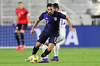 FORT LAUDERDALE, FL - DECEMBER 09: Sebastian Lletget #17 of the United States turns with the ball during a game between El Salvador and USMNT at Inter Miami CF Stadium on December 09, 2020 in Fort Lauderdale, Florida.