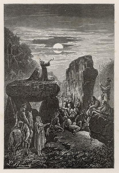 lunar ceremony / Benett in Flammarion Histoire du ciel page 32 / BC