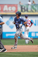 West Michigan Whitecaps catcher Brady Policelli (6) rounds the bases after hitting a home run in the top of the fifth inning during a game against the Quad Cities River Bandits on July 23, 2018 at Modern Woodmen Park in Davenport, Iowa.  Quad Cities defeated West Michigan 7-4.  (Mike Janes/Four Seam Images)