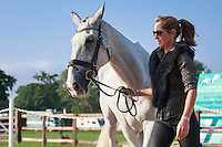 NZL-Caroline Powell with Sinatra Frank Baby during the CCI3* First Horse Inspection at the 2016 Blenheim Palace International Horse Trial. Wednesday 7 September. Copyright Photo: Libby Law Photography