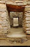 Exterior Doorways, West Ruin Anasazi Hisatsinom Chacoan Complex, Aztec Ruins National Monument, Aztec, New Mexico