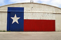 Texas Lone Star Flag on Airport Hanger in Austin, Texas, USA No. 2