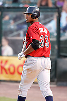 August 3, 2009:  Left Fielder Michael Taylor of the Lehigh Valley IronPigs during a game at Frontier Field in Rochester, NY.  Lehigh Valley is the International League Triple-A affiliate of the Philadelphia Phillies.  Photo By Mike Janes/Four Seam Images