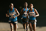 Worku Beyi, Genna Tufa and Kassahun Kabiso (USA) cross the Queensboro Bridge from Queens into Manhattan while competing in the ING New York City Marathon in New York, New York on November 4, 2007.  Martin Lel (KEN) won the men's race with a time of 2:09:04  Paula Radcliffe (GBR) won the women's race with a time of 2:23:09.