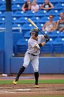 Bradenton Marauders Sammy Siani (25) bats during a game against the Dunedin Blue Jays on June 5, 2021 at TD Ballpark in Dunedin, Florida.  (Mike Janes/Four Seam Images)